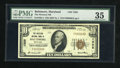 National Bank Notes:Maryland, Baltimore, MD - $10 1929 Ty. 1 The Western NB Ch. # 1325. ...