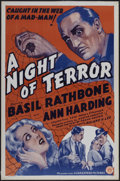 "Movie Posters:Thriller, A Night of Terror (Guaranteed Pictures, R-1930s). One Sheet (27"" X 41""). Thriller. Originally released as Love from a Stra..."
