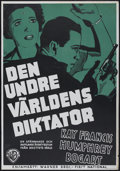 """Movie Posters:Crime, King of the Underworld (Warner Brothers, 1939). Swedish One Sheet(27.5"""" X 39.5""""). Crime...."""