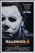 "Movie Posters:Horror, Halloween 4: The Return of Michael Myers (Galaxy International, 1988). One Sheet (27"" X 41""). Horror...."
