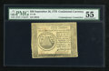Colonial Notes:Continental Congress Issues, Continental Currency September 26, 1778 $50 ContemporaryCounterfeit PMG About Uncirculated 55....