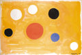 Post-War & Contemporary:Contemporary, PROPERTY OF KATHERINE WYNNE LALONDE. . ALEXANDER CALDER (American,1898-1976). Orbs on Orange, 1963. Gouache on paper. 2...