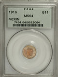 Commemorative Gold, 1916 G$1 McKinley MS64 PCGS....