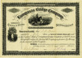 Miscellaneous:Ephemera, Lampasas Bridge Company Stock Certificate 1876....