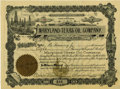 Miscellaneous:Ephemera, Maryland-Texas Oil Company Stock Certificate 1903....
