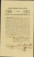 Autographs:Statesmen, Sam Houston First Texian Loan Scrip Signed...