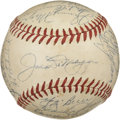 Autographs:Baseballs, 1951 New York Yankees Team Signed Baseball. This evenly toned OAL(Harridge) baseball is graced with the signatures of twen...