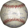 Autographs:Baseballs, Joe DiMaggio/Yogi Berra/Phil Rizzuto/Gil McDougald Signed Baseball.Four of the greatest New York Yankees have added their ...