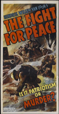 """Movie Posters:Documentary, The Fight for Peace (Warwick Pictures, 1938). Three Sheet (41"""" X 81""""). Documentary...."""