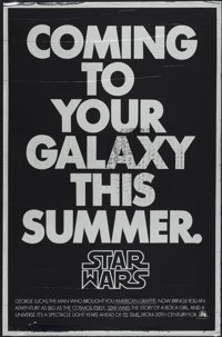 "Star Wars (20th Century Fox, 1977). One Sheet (27"" X 41"") Mylar Advance. Science Fiction"