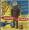 """Movie Posters:Science Fiction, Riders to the Stars (United Artists, 1954). Six Sheet (81"""" X 81""""). Science Fiction...."""
