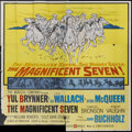 "Movie Posters:Western, The Magnificent Seven (United Artists, 1960). Six Sheet (81"" X 81""). Western...."
