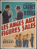 "Movie Posters:Crime, Angels With Dirty Faces (Warner Brothers, R-1940s). French Grande(47"" X 63""). Crime...."