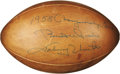 """Football Collectibles:Others, 1958 N.F.L. Championship Game Used Football Signed by Unitas. Known in the football world as simply """"The Greatest Game Ever ..."""