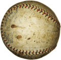 Autographs:Baseballs, 1930's Tour of Japan/Hawaii Signed Baseball with Ruth, Gehrig, Foxx. The handwritten date of October 11, 1932, penned by pa...