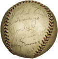 Autographs:Baseballs, 1933 New York Giants Team Signed Baseball. After a decade playingsecond fiddle to their Yankee neighbors to the east, the ...