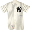 "Autographs:Others, 1990's Joe DiMaggio ""Yankee Clipper"" Signed Jersey. RedSchoendienst once noted of Joe DiMaggio, ""He was a solid ballplaye..."