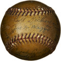 Autographs:Baseballs, 1946 New York Yankees Team Signed Keller Home Run Baseball. The1946 New York Yankees team members added twenty-two signatu...