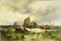 Fine Art - Painting, European:Antique  (Pre 1900), THEODOR ALEXANDER WEBER (German, 1838-1907). Boats at Sea.Oil on canvas. 24-1/2 x 35-1/2 inches (62.2 x 90.2 cm). Signe...