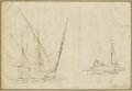 Fine Art - Painting, European:Antique  (Pre 1900), NICOLAS MARIE OZANNE (French, 1728-1811). Boat Sketches. Inkon paper. 5-1/4 x 7-1/2 inches (13.3 x 19.1 cm). Signed low...