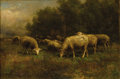 Fine Art - Painting, American:Modern  (1900 1949)  , THOMAS BIGELOW CRAIG (American, 1849-1924). Sheep atPasture, 1903. Oil on canvas. 12-1/4 x 18 inches (31.1 x 45.7cm). ...