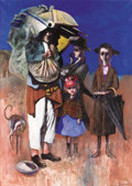 Fine Art - Painting, American:Contemporary   (1950 to present)  , NOEL ROCKMORE (American, 1928-1995). The Beggar ofJerusalem, 1968. Oil on canvas. 70 x 50 inches (177.8 x 127cm). Sign...