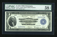 Fr. 714 $1 1918 Federal Reserve Bank Note PMG Choice About Unc 58 EPQ
