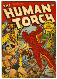 The Human Torch #8 (Timely, 1942) Condition: VG