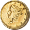 California Fractional Gold, 1854 50C Liberty Round 50 Cents, BG-436, R.6, MS61 NGC....