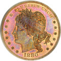 Patterns, 1880 $1 Goloid Metric Dollar, Judd-1652, Pollock-1852, R.6-7, PR66Red and Brown PCGS....