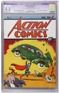 Action Comics #1 (DC, 1938) CGC Apparent VF+ 8.5 Moderate (P) Off-white to white pages