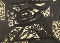 Fine Art - Painting, American:Modern  (1900 1949)  , DEHIRSCH MARGULES (American, 1899-1965). AbstractComposition, 1962. Ink on paper. 28 x 37 inches (71.1 x 94.0cm). Sign...