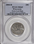 Statehood Quarters: , 2004-D 25C Wisconsin Extra Leaf High MS65 PCGS. PCGS Population(676/96). (#914033)...