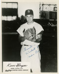 Autographs:Photos, Ken Boyer Signed 8x10 Photograph. For his 11 years in St. Louis KenBoyer effectively manned the third base position for the...