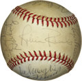 Autographs:Baseballs, New York Yankees Old Timers Signed Baseball including Maris.Sporting twenty-one signatures from a early 1970's New York Ya...