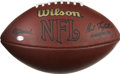Football Collectibles:Uniforms, 2005 Seattle Seahawks Game Used Football. This official Wilson football was used in a regular season game played by the top-...