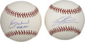 Autographs:Baseballs, Mark Prior and Kerry Wood Single Signed Baseballs Lot of 2 . Formerteammates with the Chicago Cubs, we offer single signed...