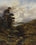 Fine Art - Painting, European:Modern  (1900 1949)  , WILLIAM MELLOR (British, 1851-1931). A Rushing Gorge in theHighlands. Oil on canvas. 50 x 40 inches (127 x 101.6 cm). S...