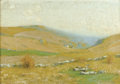 Fine Art - Painting, American:Modern  (1900 1949)  , BRUCE CRANE (American, 1857-1937). Golden Hills. Oil oncanvas. 14-1/4 x 20-1/4 inches (36.2 x 51.4 cm). Signed lower ri...