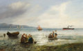 Fine Art - Painting, European:Antique  (Pre 1900), G. ORBAN (Continental, 19th Century). Low Tide. Oil oncanvas. 20 x 32 inches (50.8 x 81.3 cm). Signed lower left: G....