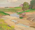 Fine Art - Painting, American:Modern  (1900 1949)  , ELLA MARIE KOEPKE MEWHINNEY (American, 1891-1962). Landscape,Dove Country. Oil on canvas board. 10 x 11-3/4 inches (25....