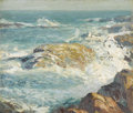 Fine Art - Painting, American:Modern  (1900 1949)  , GEORGE WILLIAM SOTTER (American, 1879-1953). A Rocky Coast.Oil on artist's board. 10 x 11-3/8 inches (25.4 x 28.9 cm). ...