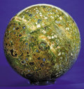 Lapidary Art:Carvings, LARGE RAINFOREST JASPER SPHERE. ...