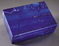 Lapidary Art:Carvings, DEEP BLUE LAPIS BOX. ...