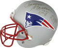 Football Collectibles:Helmets, Curtis Martin Signed Helmet. New England Patriot's Riddell full sized replica helmet is adorned with the signature of Curti...