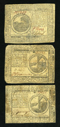 Colonial Notes:Continental Congress Issues, Continental Currency May 9, 1776 $6 XF. Continental Currency July22, 1776 $2 Fine. Continental Currency November 2, 1776 $2 X...(Total: 3 notes)