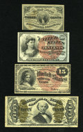 Fractional Currency:Group Lots, Four Fractionals.. ... (Total: 4 notes)