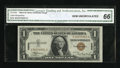 Small Size:World War II Emergency Notes, Fr. 2300 $1 1935A Hawaii Silver Certificate. CGA Gem Uncirculated 66.. ...
