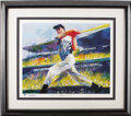 Autographs:Others, 1998 Joe DiMaggio & Leroy Neiman Signed Lithograph. Theunmistakable impressionistic style of sports' most celebratedartis...