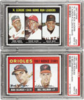 Baseball Cards:Lots, 1967 Topps NL Home Run Leaders w/Aaron #244 and Mark Belanger #558PSA MINT 9 Lot of 2. Two superstar sluggers for the pric...